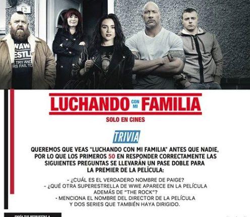 WWE y Universal Pictures regalan 50 boletos para el estreno de la película Luchando con mi familia