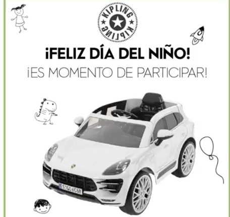 Concurso Kipling Día del Niño: Gana un carro Porsche Macan Turbo para niños y un Kit escolar Kipling