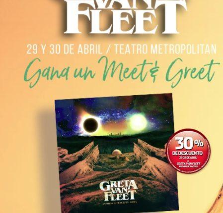 Concurso Mixup: Gana meet & greets con el grupo Greta Van Fleet