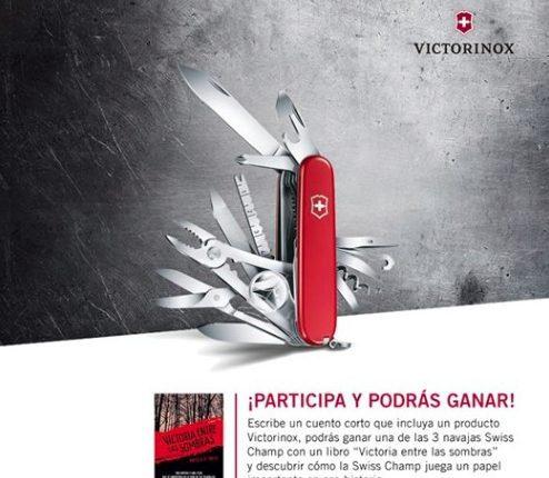 """Concurso Victorinox: Gana 1 de las 3 navajas Swiss Champ con el libro """"Victoria entre las sombras"""""""