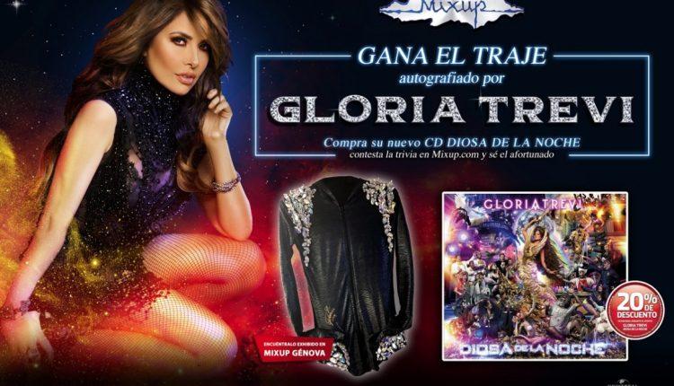 Gana el traje de Gloria Trevi autografiado en el concurso de Mixup