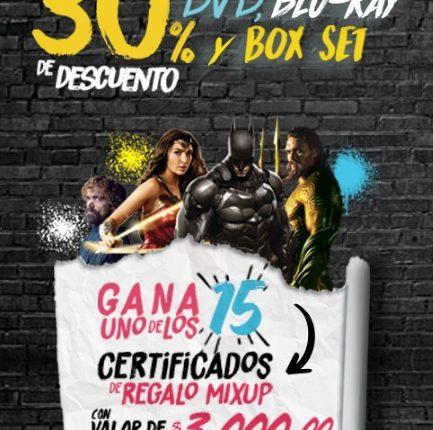 Concurso Mixup y Warner: Gana 1 de 15 certificados de $3,000 pesos