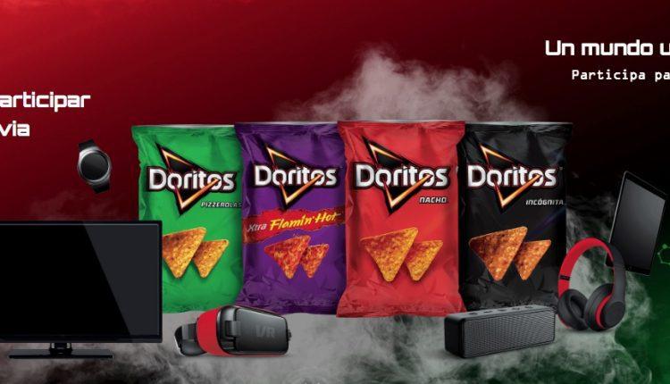 Promoción Doritos Clona2: Ingresa tu código y gana viajes por el mundo, pantallas y más en www.doritos.com.mx
