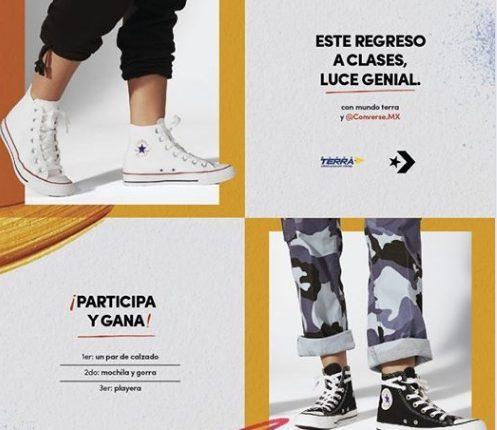 Concurso Converse y Mundo Terra regreso a clases 2019: Gana par de tenis, mochila, gorra o playera