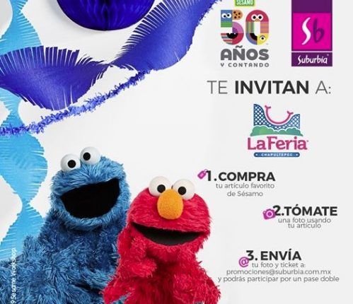 Concurso Suburbia y Plaza Sésamo: Gana pases dobles para La Feria de Chapultepec