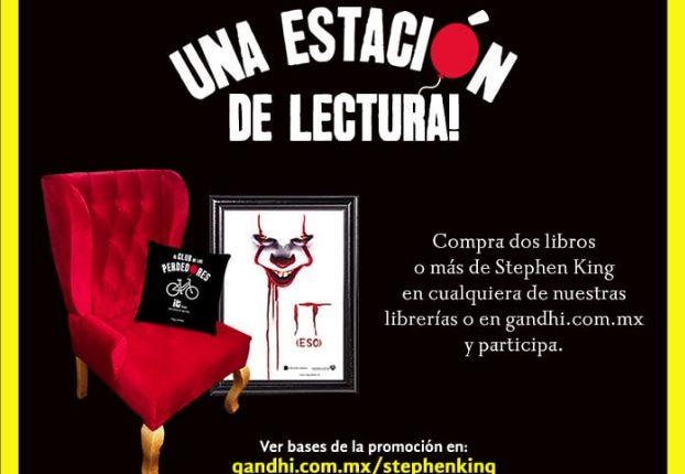 Concurso Librerías Gandhi Stephen King: Gana 1 de 5 estaciones de lectura con sillón, póster y cojín