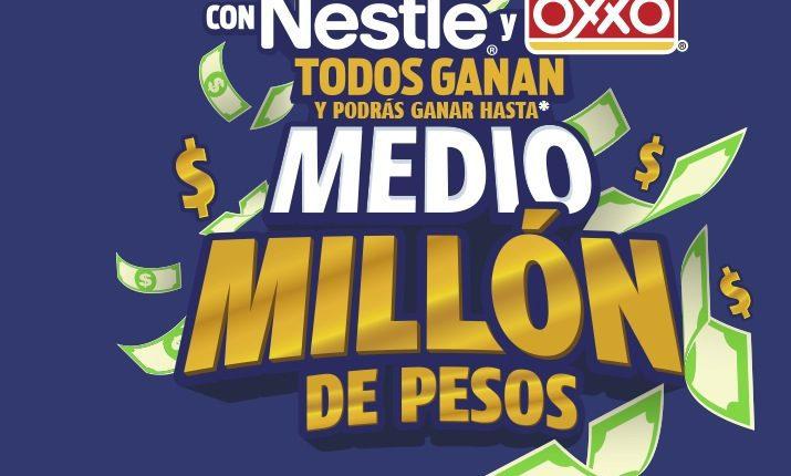 Promoción Oxxo Nestlé Todos Ganan 2019: Gana hasta medio millón de pesos en todosganan2019.com