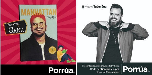 Concurso Porrúa: gana 1 de 3 libros de Diego Ojeda