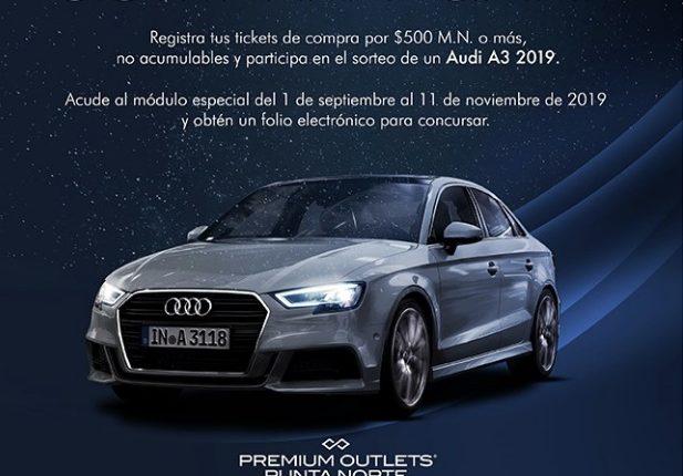 Sorteo Premium Outlets Punta Norte: Gana un auto Audi A3 2019