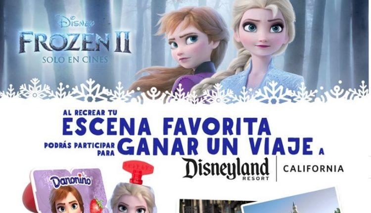 Concurso Danonino Frozen 2 Aventura Congelada: Gana viaje familiar a Disneyland en aventuracongelada.com