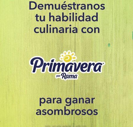 Promoción Margarina Primavera Receta Inolvidable: Gana remodelaciones de cocina de hasta $75,000
