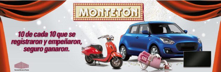 Promoción nacional Monte de Piedad Montetón 2019: Gana auto, moto, pantallas y más