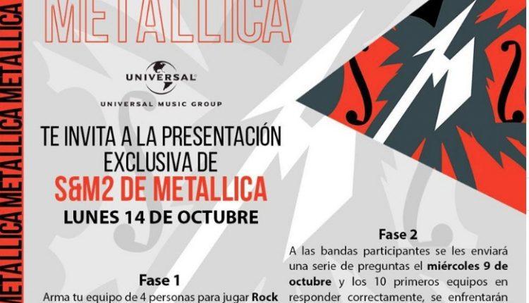 Universal Music México regala entradas a la presentación exclusiva de S&M2 de Metallica