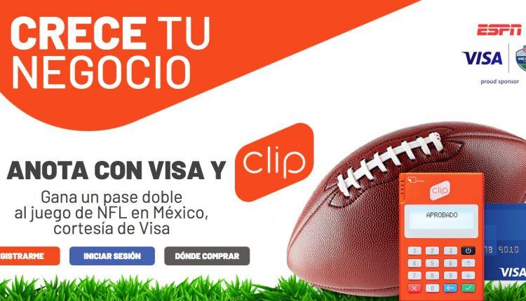Gana boletos para el partido de NFL en México cortesía de Visa y Clip en anotaconvisayclip.com
