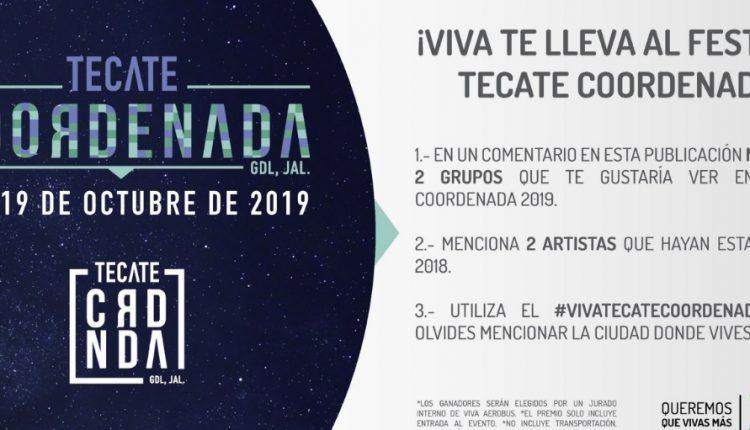 Boletos Gratis para el Festival Tecate Coordenada 2019 en el concurso de Viva Aerobus