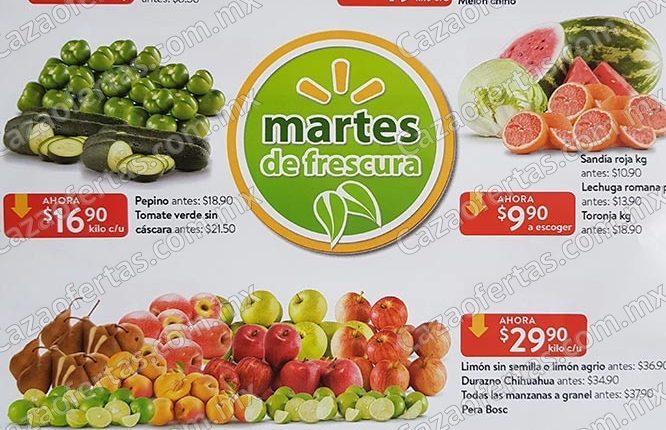 Walmart Martes de Frescura 8 de octubre 2019