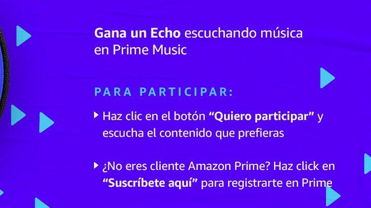 Concurso Amazon Prime Music: Gana un dispositivo Echo Dot