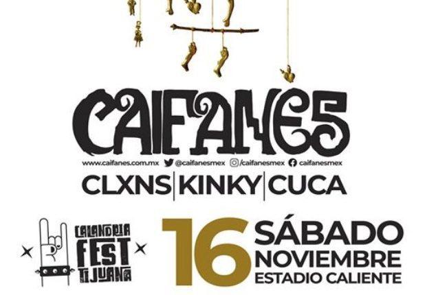 Gana boletos para el concierto de Caifanes, Clxons, Kinky y Cuca en Tijuana con Calimax