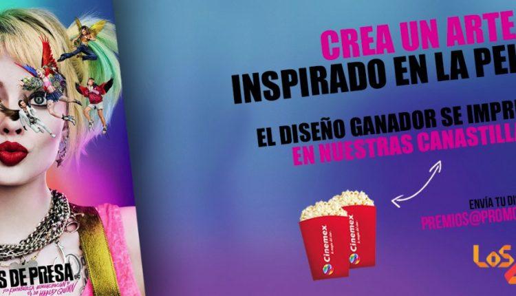 Promoción Cinemex Aves de Presa: Gana boletos a la premiere y tu arte impresa en más de 1 millón de canastillas de palomitas