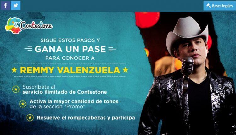 Concurso Contestone: Gana un meet & greet con Remmy Valenzuela