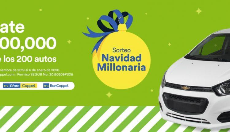 Sorteo Coppel Navidad Millonaria 2019: Gana hasta 1 millón o 1 de 200 autos