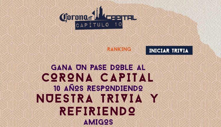 Gana boletos para el festival Corona Capital 2019 en coronacapital10.com.mx