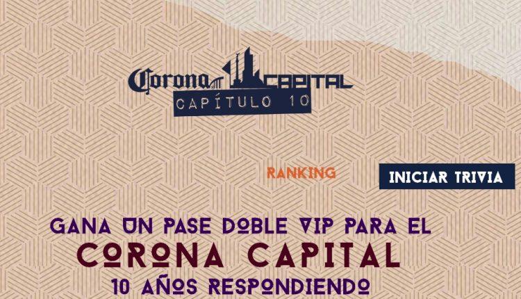 Gana boletos VIP para el Festival Corona Capital 2019 en coronacapital10vip.com.mx