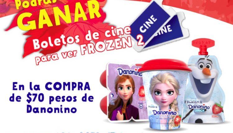 Promoción Frozen 2 de Danonino: Gana 1 de 1000 boletos para la película + combos en Cinépolis