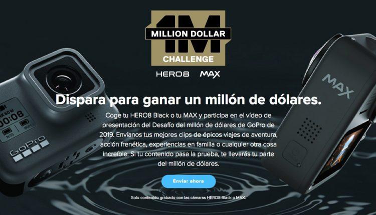 Concurso GoPro 2019 Reto de $1 millón de dólares: Gana una parte del millón si tu video es seleccionado