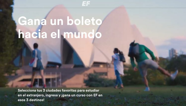 Concurso EF Ticket to the World: Gana viaje a 3 ciudades del mundo