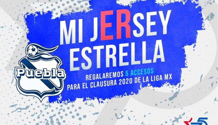 Concurso Estrella Roja Mi Jersey Estrella: Gana 1 de 5 accesos para todos los partidos del Puebla como local del Clausura 2020