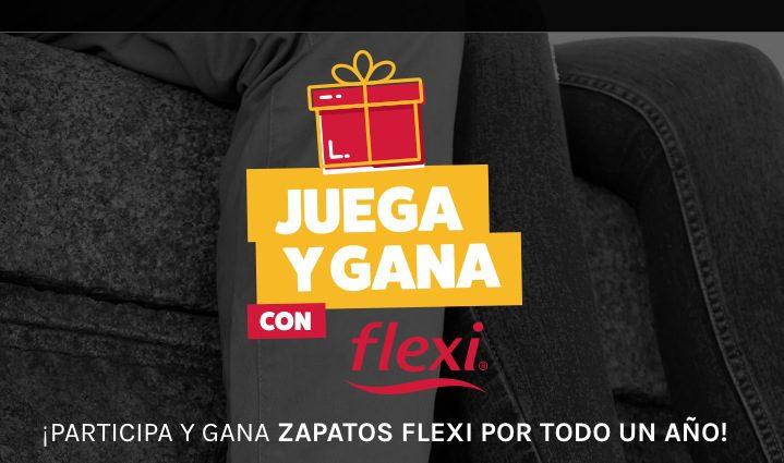Promoción Juega y Gana con Flexi: Gana 1 de 3 premios de zapatos gratis por 1 año cada semana