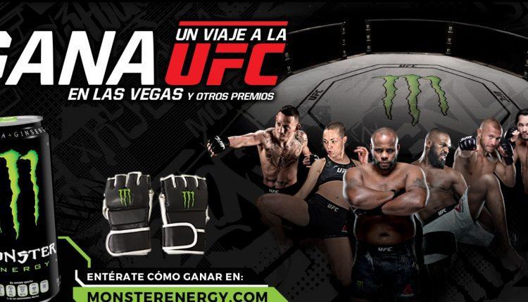 Promoción Oxxo Monster Energy UFC: Gana viaje a la UFC en Las Vegas y otros premios en monsterenergy.com
