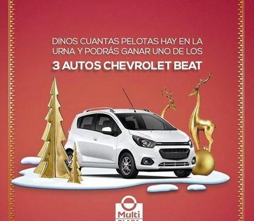 Sorteo Multiplaza Aragón Navidad 2019: Gana 1 de 3 autos Chevrolet Beat 2020