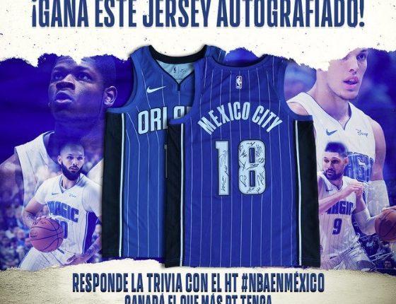 Concurso NBA México: Gana un jersey autografiado del Orlando Magic