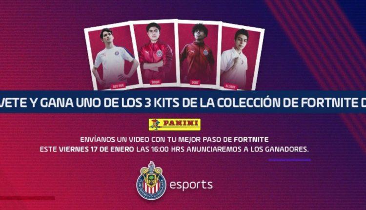 Concurso Chivas e-Sports: Gana uno de los 3 kits de Fortnite
