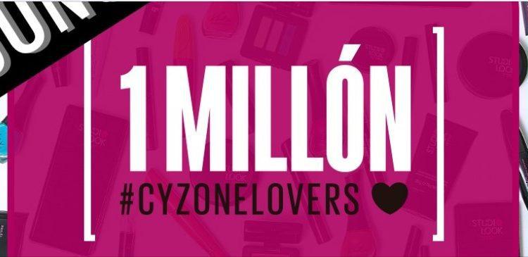 Concurso Cyzone 1 Millón de fans: Gana 1 de 5 kits de la marca Cyzone