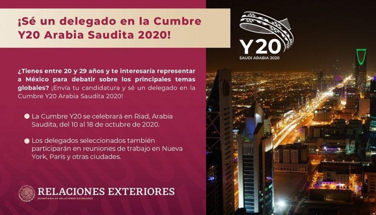 Concurso IMJUVE Cumbre de Jóvenes Youth 20-2020: gana viaje a Arabia Saudita
