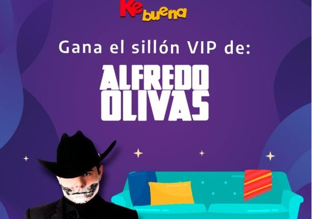 Concurso Kebuena: Gana el sillón VIP de Alfredo Olivas y boletos para su concierto en la CDMX