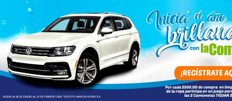 Promoción La Comer 2020 Inicia el Año Brillando: gana 1 de  2 camionetas Volkswagen Tiguan 2020