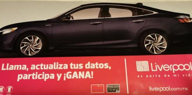 Sorteo Liverpool Actualiza tus Datos 2020: Gana 1 de 2 autos Honda Insight y monederos de $10,000