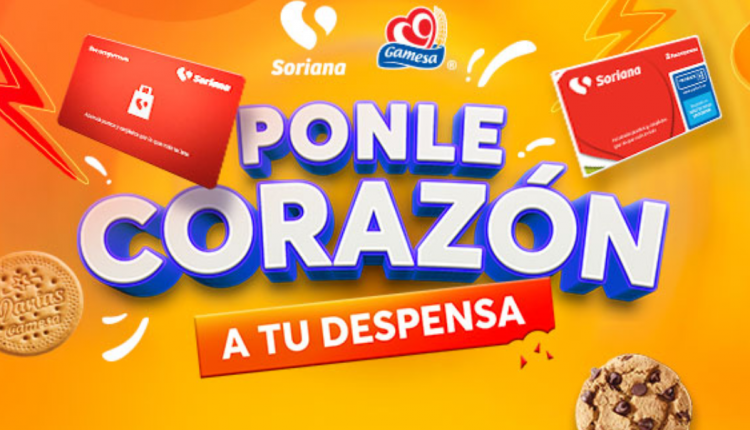 Promoción Soriana Gamesa Ponle Corazón a tu Despensa: Gana $36,000 en monedero y premios de $500