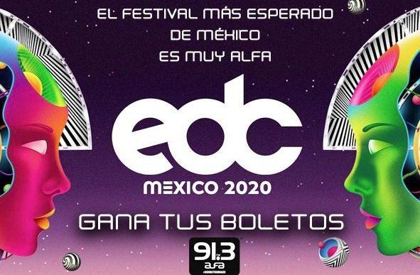Boletiza EDC Alfa 91.3: Gana boletos al EDC México 2020