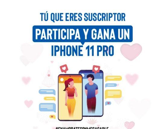 Concurso Enamórate con Megacable: Gana un iPhone 11 Pro