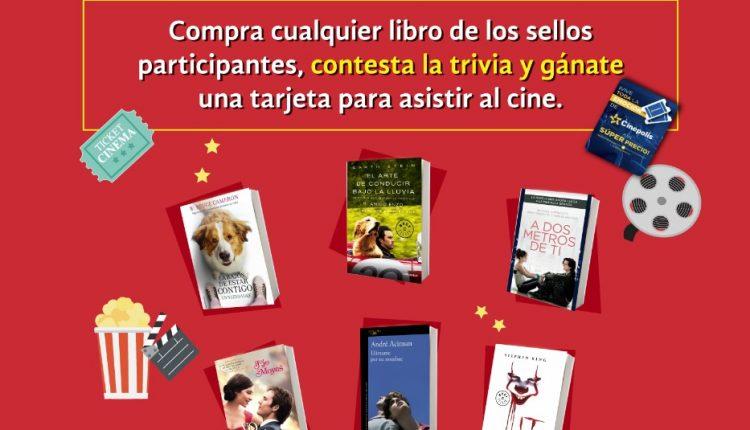 Concurso Gandhi Del Libro al Cine: Gana 1 de 10 tarjetas Cinepass para ir a Cinépolis