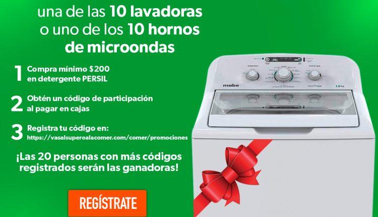 Concurso La Comer Persil Temporada Verde: Gana 1 de 10 lavadoras ó 1 de 10 microondas
