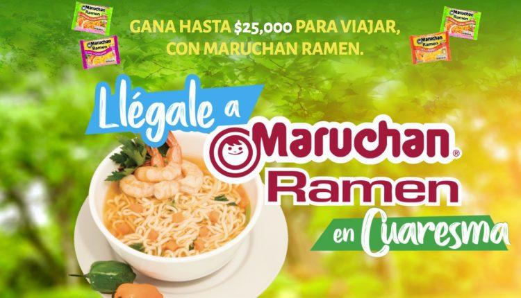 Concurso Maruchan Ramen Cuaresma 2020: Gana certificado de viaje de $25,000