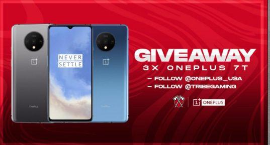 Giveaway Tribe Gaming: Gana 1 de 3 celulares OnePlus 7T