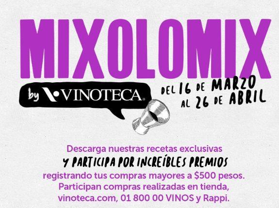 Promoción Gana con Vinoteca Mixolomix 2020: Gana un paquete de botellas y kit de mixología