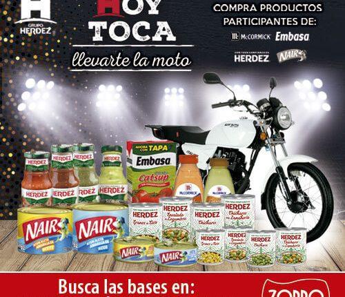 Concurso Zorro Abarrotero y Herdez Hoy Toca: Gana 1 de 6 motos